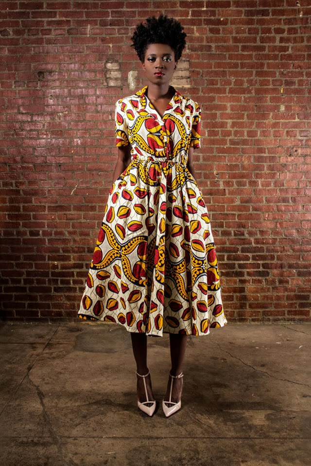 African print style dress see more on ciaafrique.com