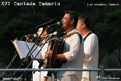 Grup Peix Fregit a la cantada d'havaneres de Tamariu