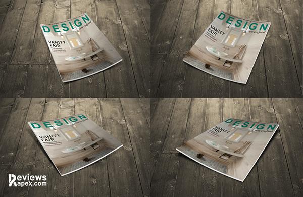 Download Gratis Mockup Majalah, Brosur, Buku, Cover - Magazine Cover Mockup