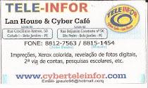 TELE - INFO Cyber Café - Rua Benjamim Constant, Nº 50 São Pedro - Fone: 8815- 1454