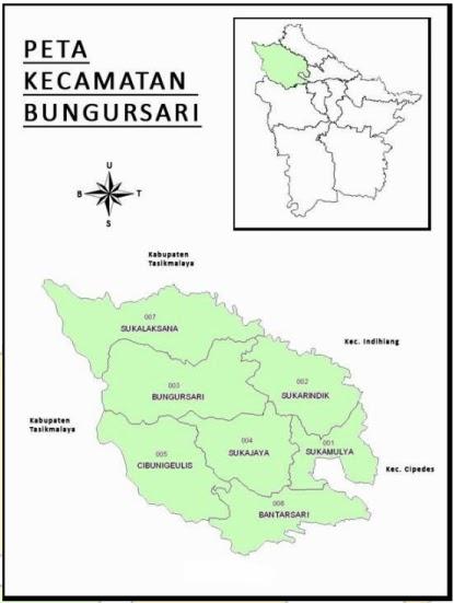 Peta Kecamatan Bungursari