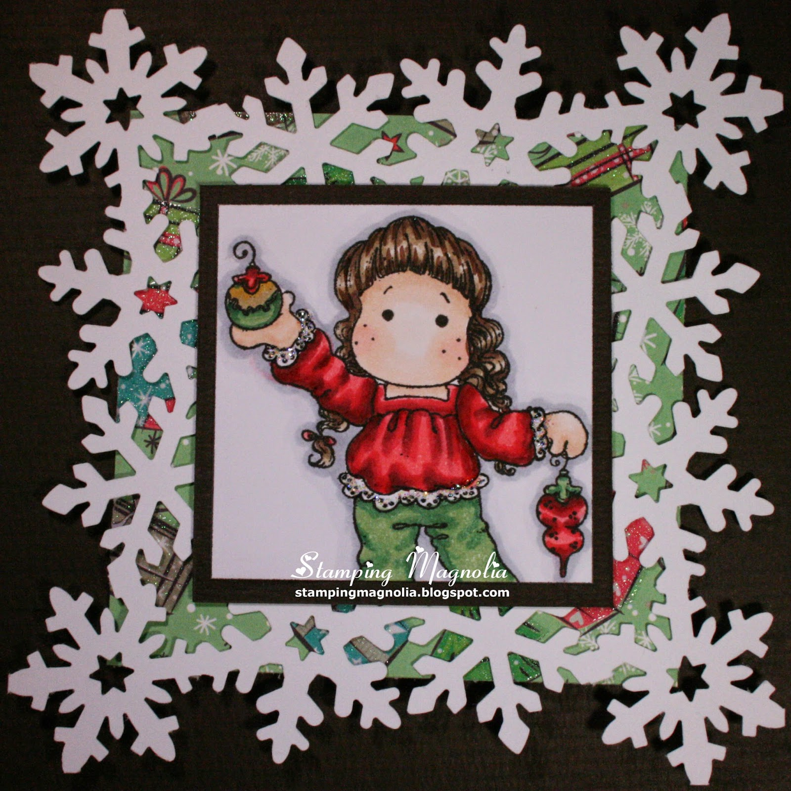 Coloring Magnolia Stamp Merry Little Christmas Collection - Hanging Ornaments
