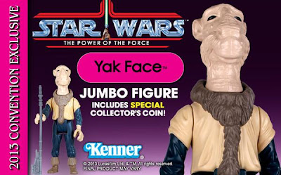San Diego Comic-Con 2013 Exclusive Yak Face Power of the Force 12 Inch Jumbo Vintage Kenner Star Wars Action Figure by Gentle Giant