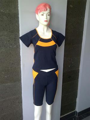 Desain Baju Senam Wanita Terbaru 2016