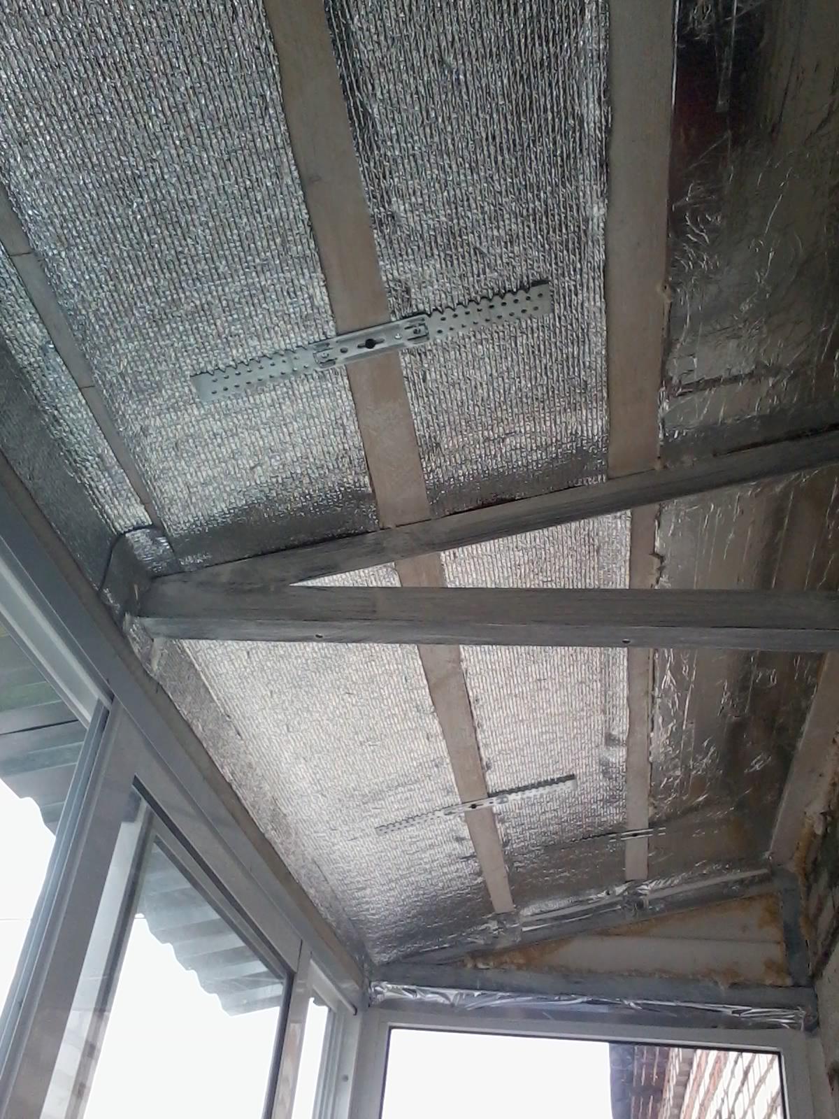 Как утеплить потолок на балконе, лоджии своими руками 37
