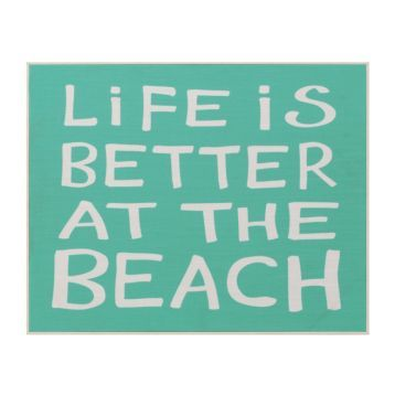 Life is Better at the Beach Framed Wall Plaque