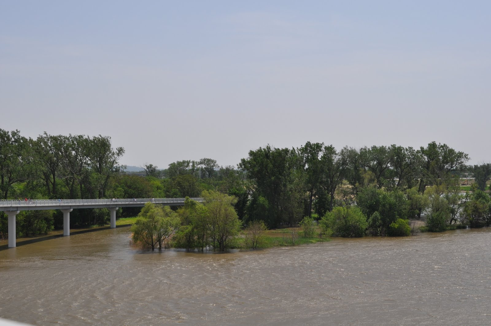 The Missouri River is near flood stage. I've been wanting to check out