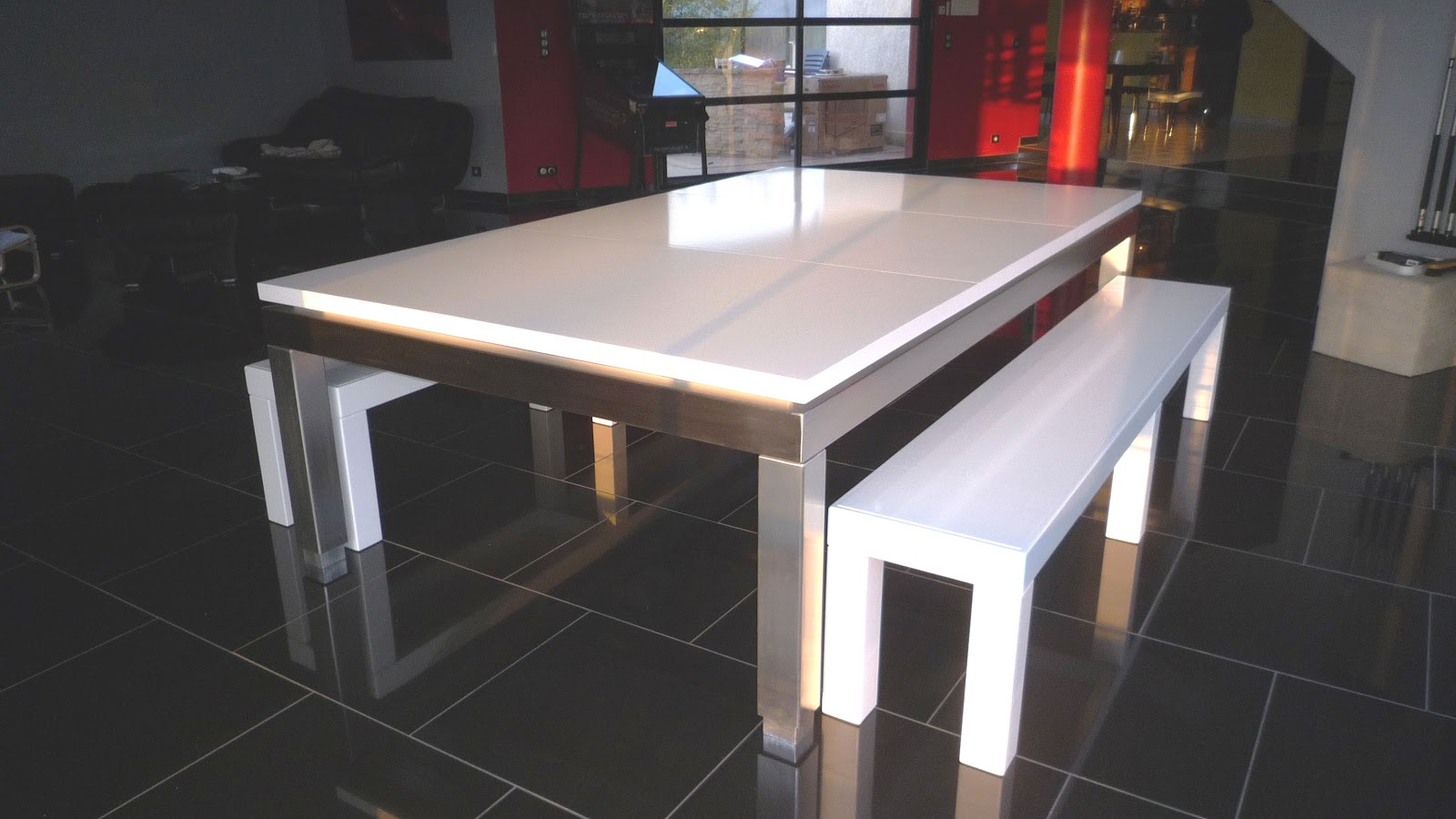 Fabricant de billards id es design et d coration dans l 39 univers du billa - Table de billard transformable en table de salle a manger ...