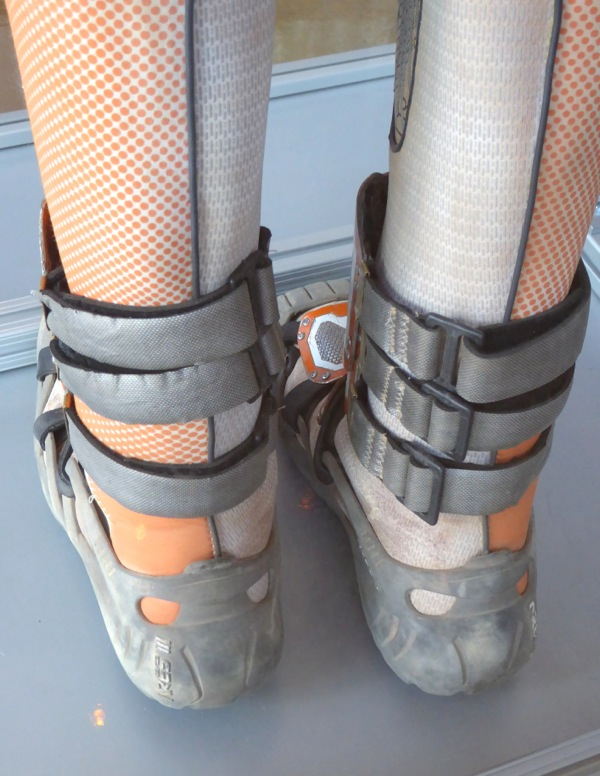 Spacesuit boots costume detail The Martian
