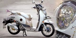 modifikasi motor honda scoopy