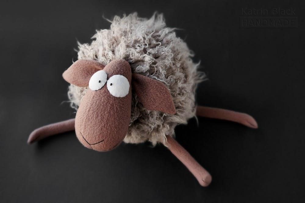Овечка - мягкая игрушка handmade. Купить овечку. Сшить своими руками. Выкройка.