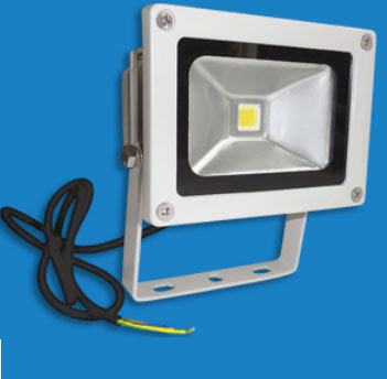 The EH10LED 10W LED Floodlight - Energy Saving LED flood light in neutral grey