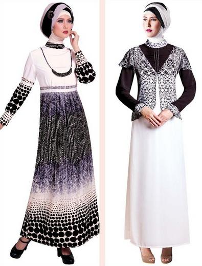 Contoh Model Baju Muslim Gamis Terbaru 2015