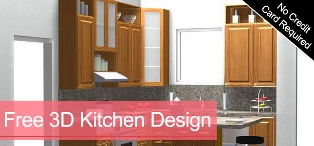 Free 3D Kitchen Design Layout
