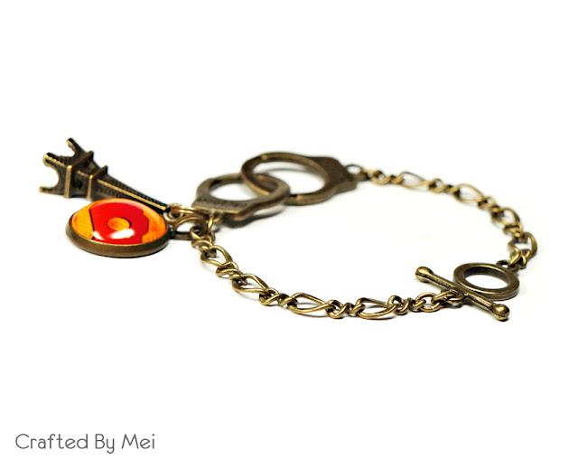 handcuff bracelet charm camera