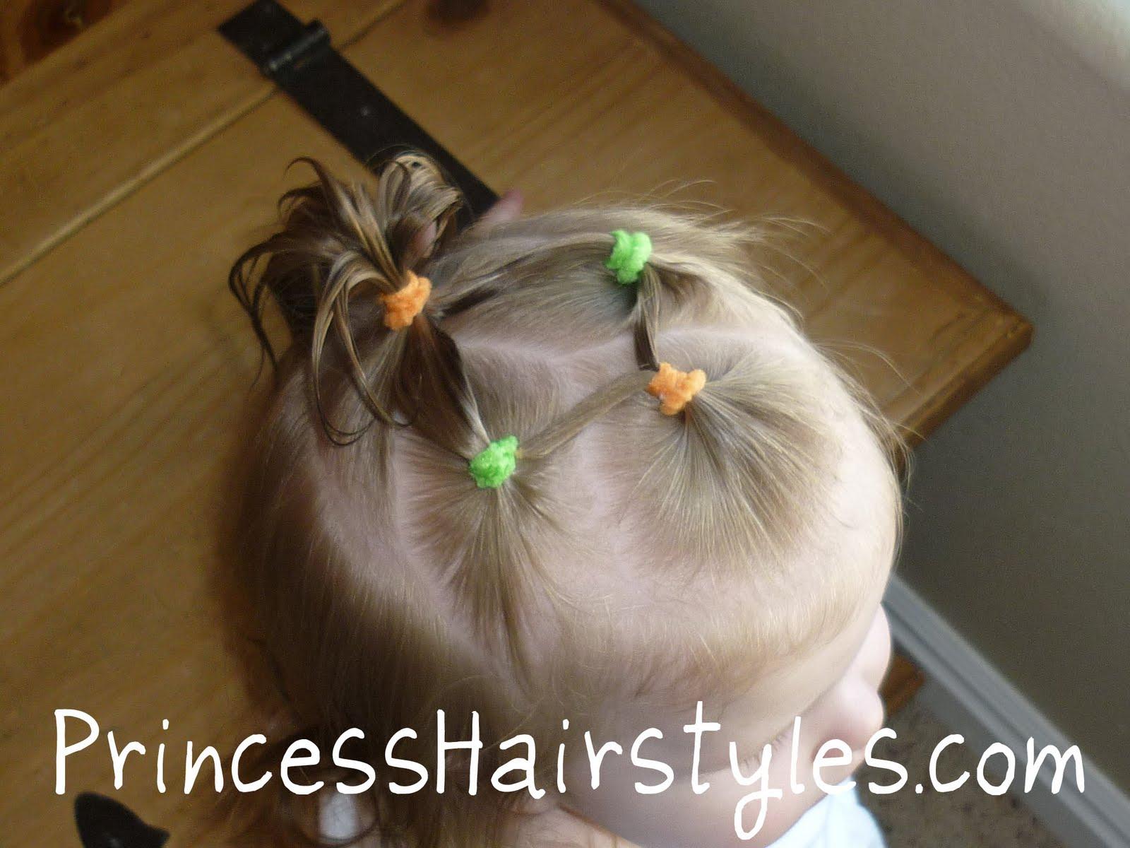 baby hairstyle using elastics