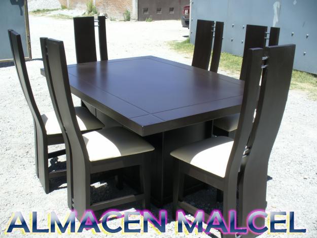 Muebles Malcel Comedores De 4 Y 6 Puestos En Madera