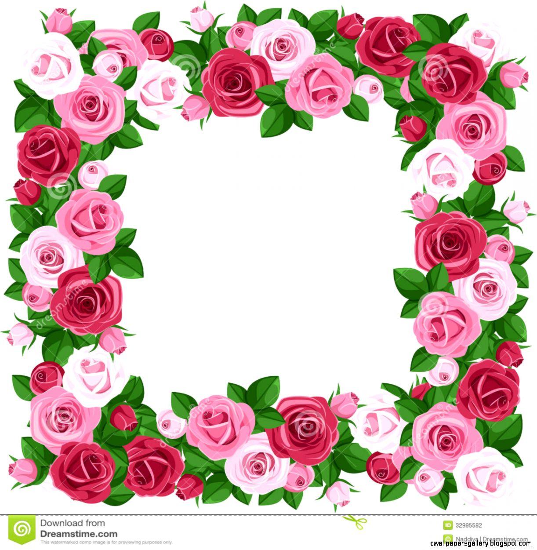 Pink Rose Border Clip Art  Clipart Panda   Free Clipart Images