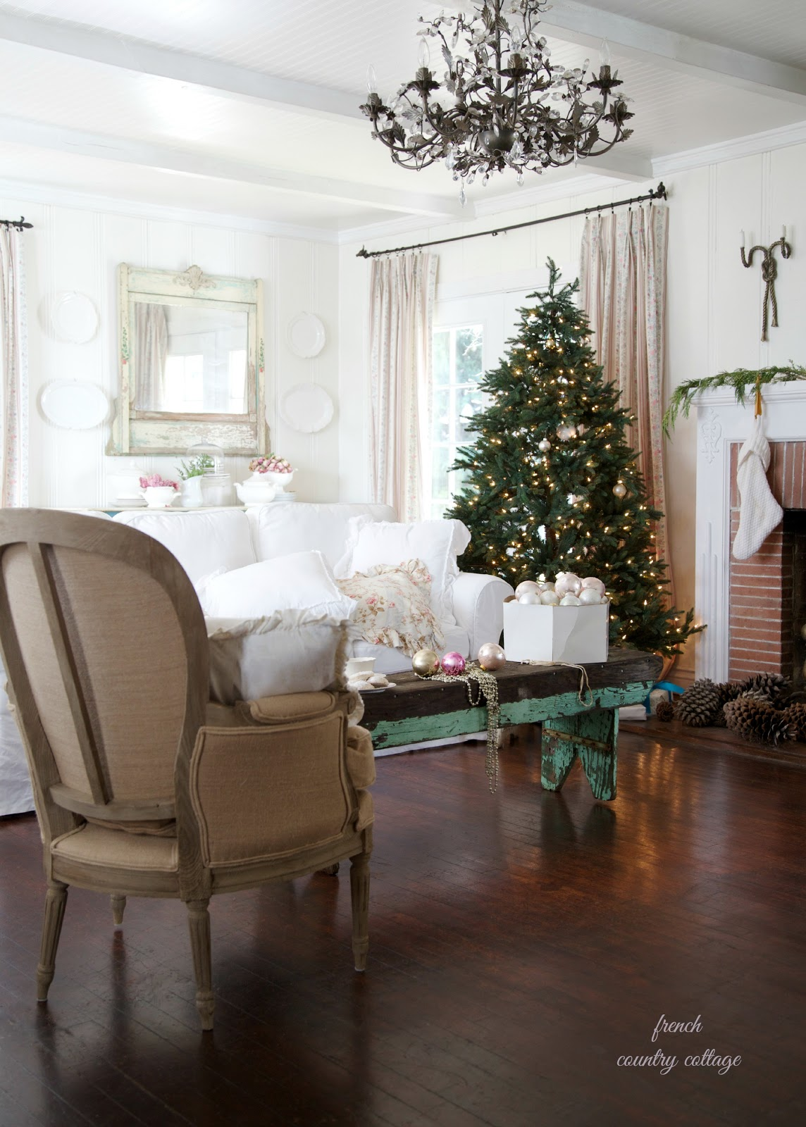 French country cottage christmas home tour french for French country cottage design