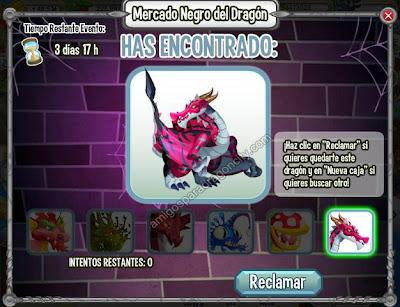 imagen del dragon depredador en una caja del mercado negro de dragon city