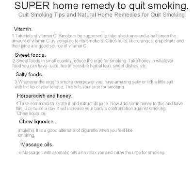 home remedy quit smoking