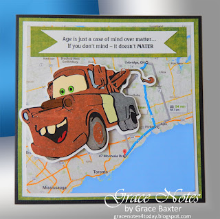 Tow Mater B-day card and Poem, by Grace Baxter