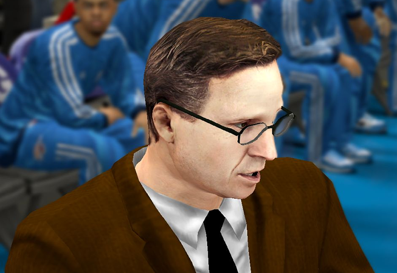 NBA 2K14 Coach Scott Brooks Cyberface w/ Eyeglasses