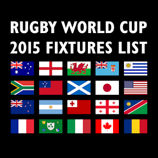 Rugby World Cup 2015 Groups with Fixtures