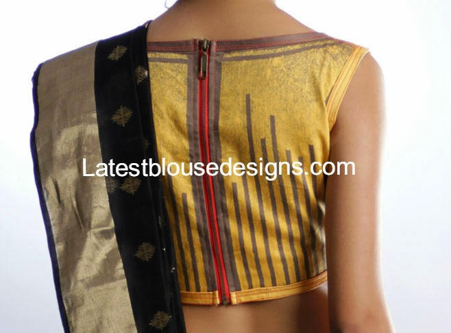 zipper back blouse