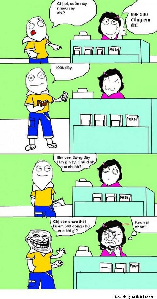 Troll nhân viên thu ngân