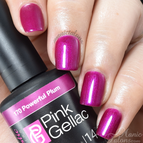 Pink Gellac Powerful Plum Swatch