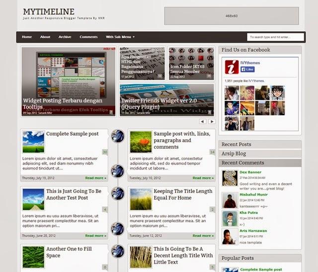 MyTimeLine Blogger Template Vice Blogger - Timeline blogger template