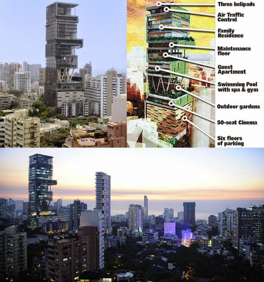 Antilla – Mumbai, India – 400,000 square feet