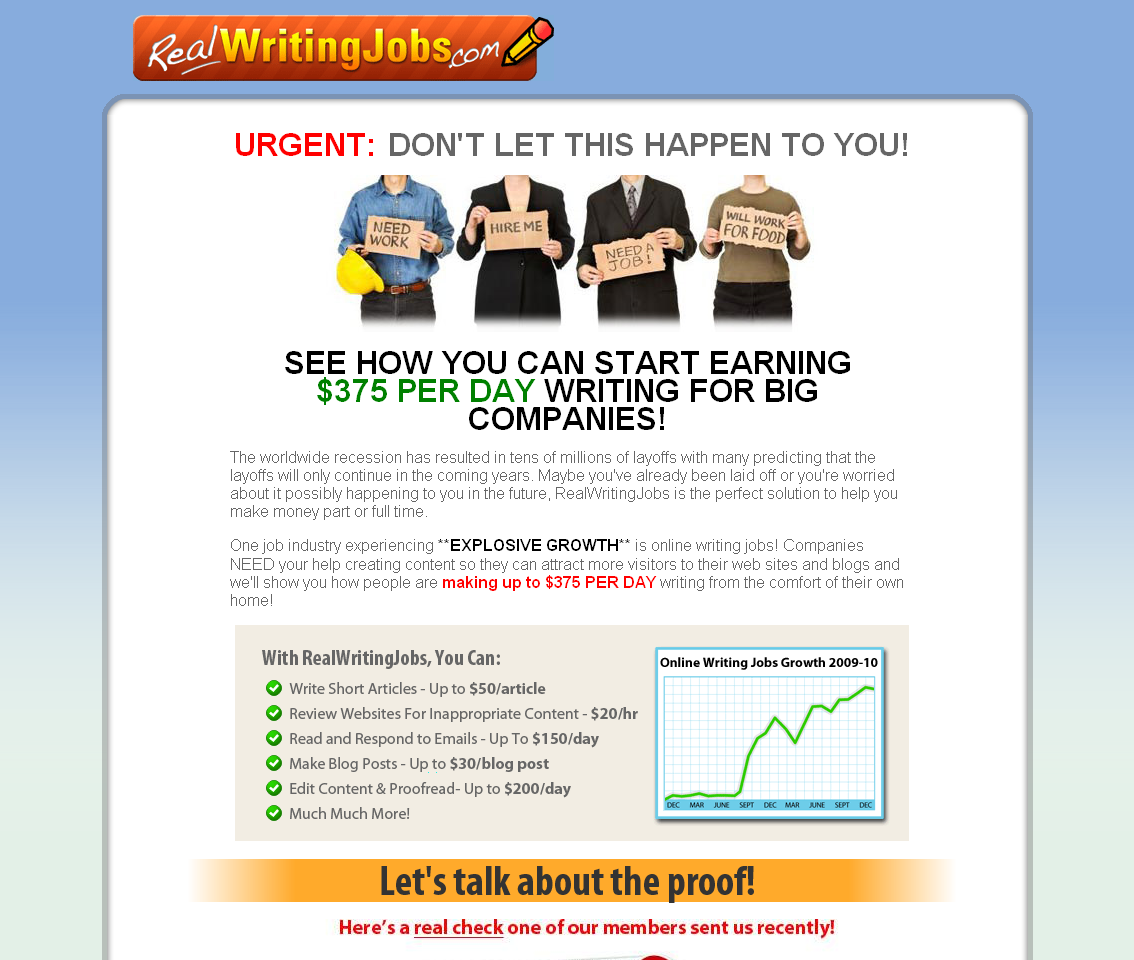 real writing jobs reviews Real writing jobs is a website created by writing enthusiasts to teach aspiring writers or seasoned writers earn more online by writing less articles it.