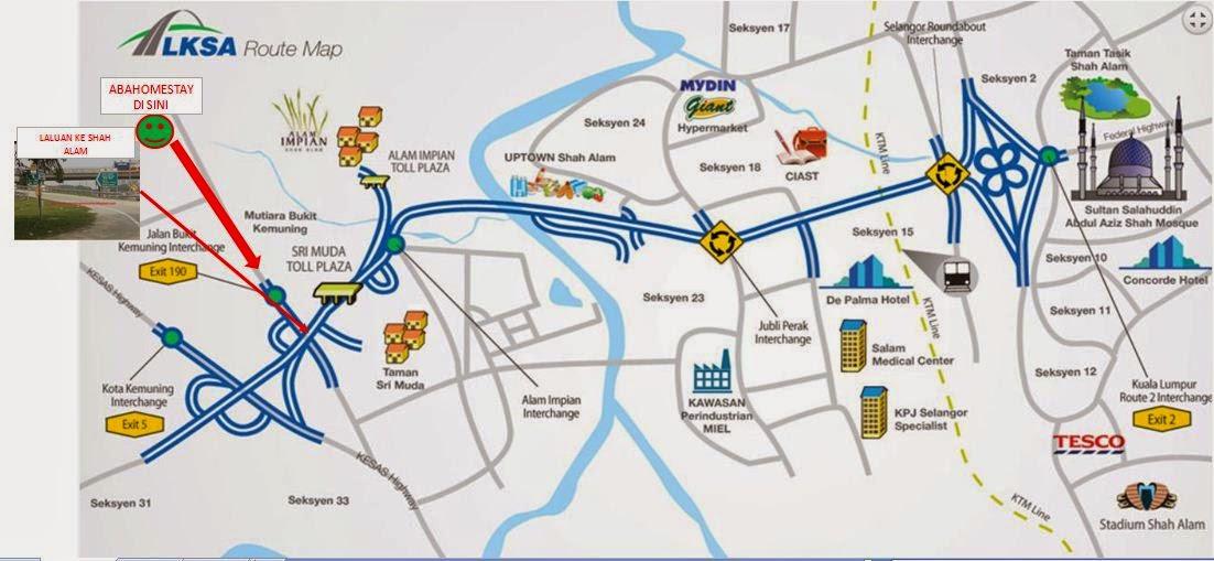 Homestay ke Bandar Shah Alam