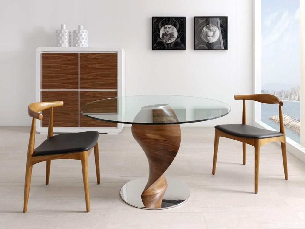 El blog de casa nueva mesas de comedor en cristal - Mesa comedor moderna ...