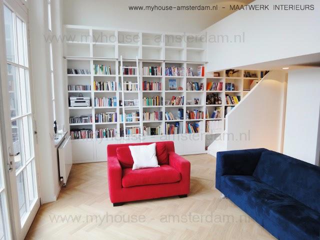 My House - Amsterdam : Moderne Houten Boekenkasten