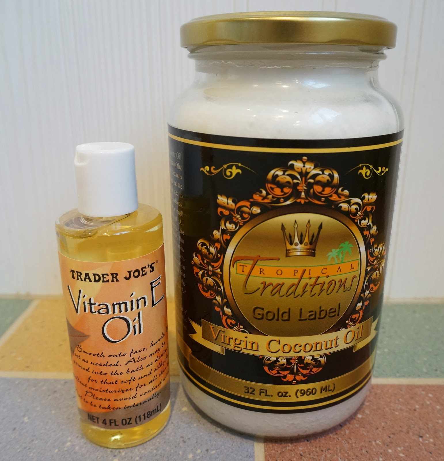Vitamin E Oil and Coconut Oil for lotion recipe