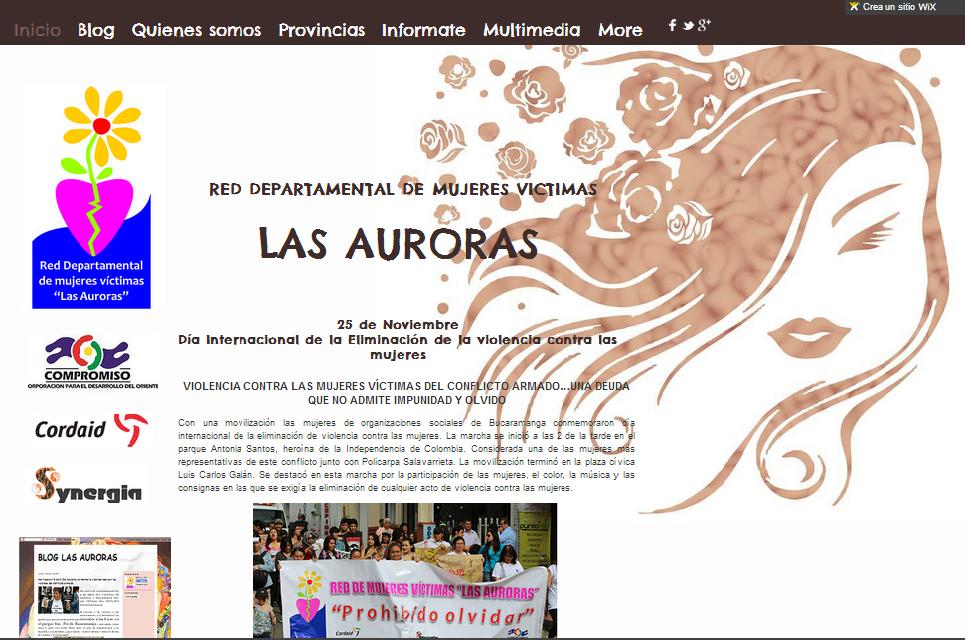 Página web Las Auroras