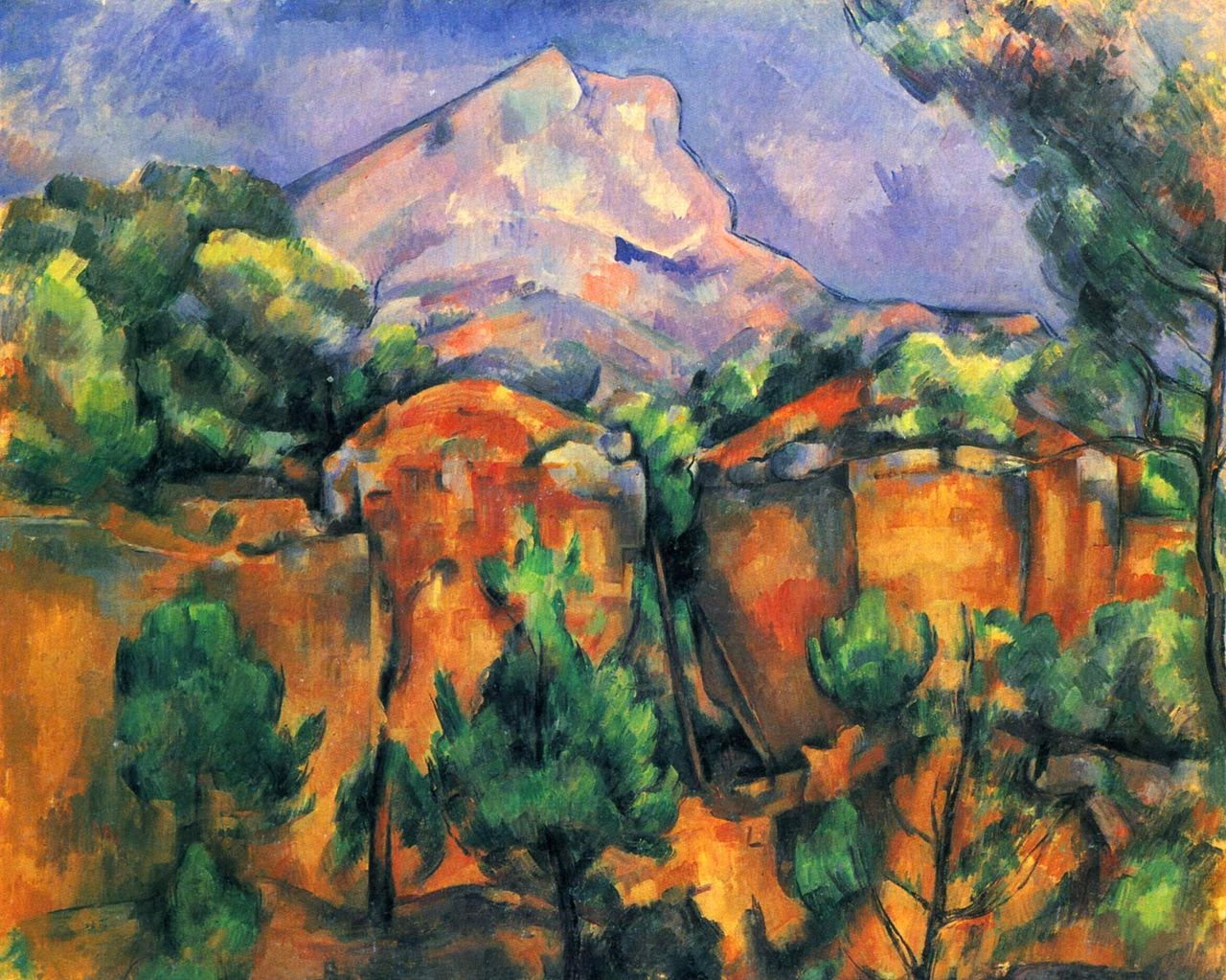 Mont Sainte-victoire Above The Tholonet Road 1897c Mont Sainte-victoire