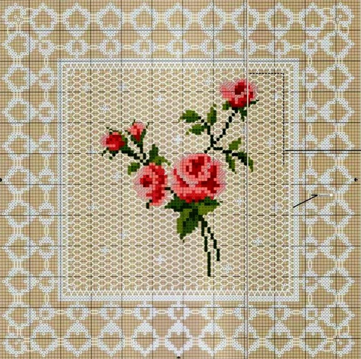 Милые сердцу штучки: Вышивка крестом: Нежные розочки в стиле 33