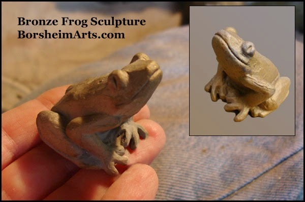 Kickstarter art bronze reward frog sculpture