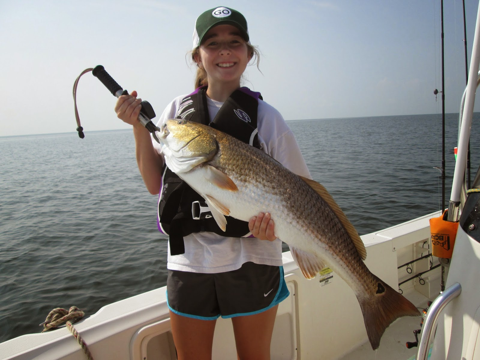 Triple tail trout reds drum and gar mississippi for Mississippi fishing charters