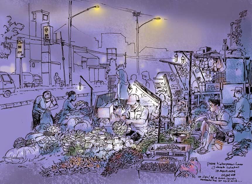 Night Sketching Urban Sketchers