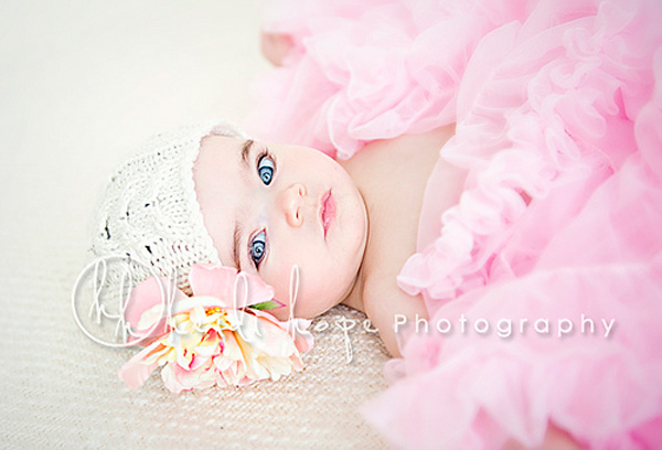 girly girl baby photography