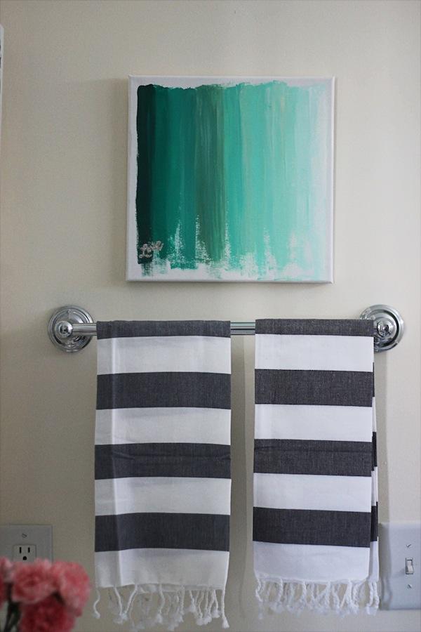 Ombre art di kamar mandi