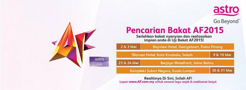 Ujibakat Lokasi Akademi Fantasia 2015 AF2015