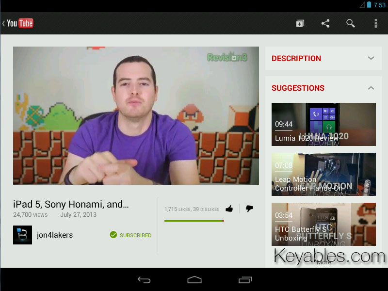 Android 4.3 Youtube