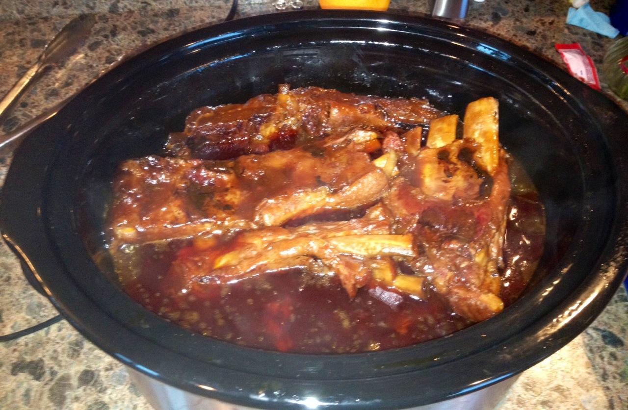 Pork spare rib crock pot recipe