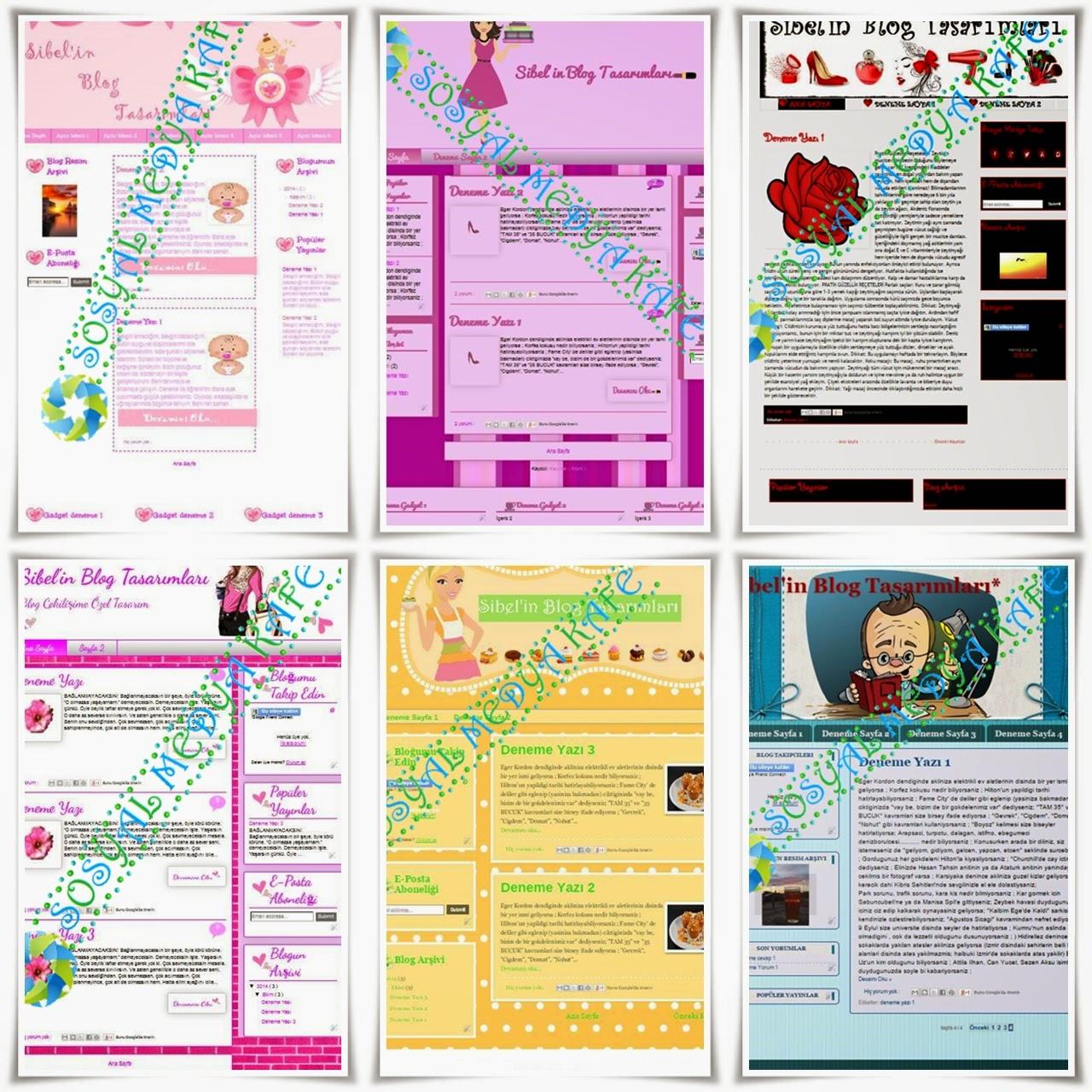blogger tema tasarım çekilişi